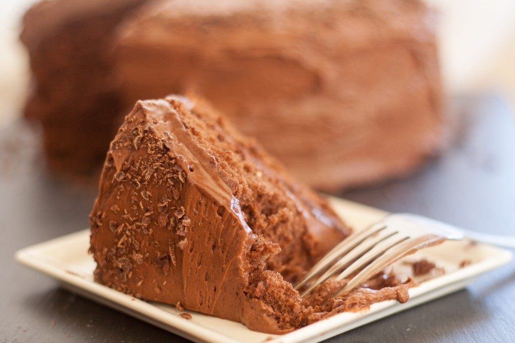 Simple Chocolate Cake with Creamy Frosting