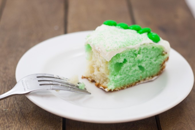 Green & White Cake - Slice