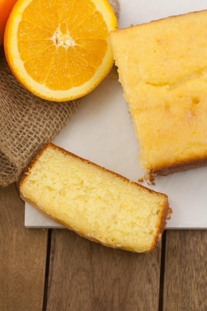 Orange Cake Looking Down