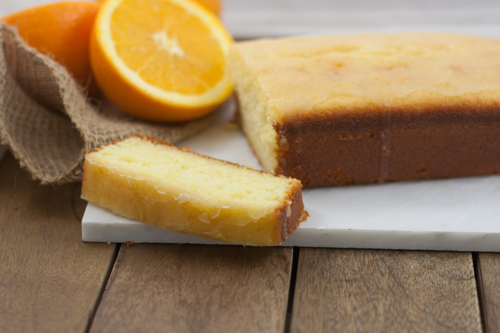 Orange Cake on White Board