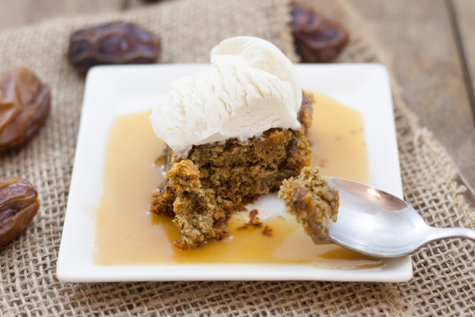 Sticky Date Pudding on Spoon