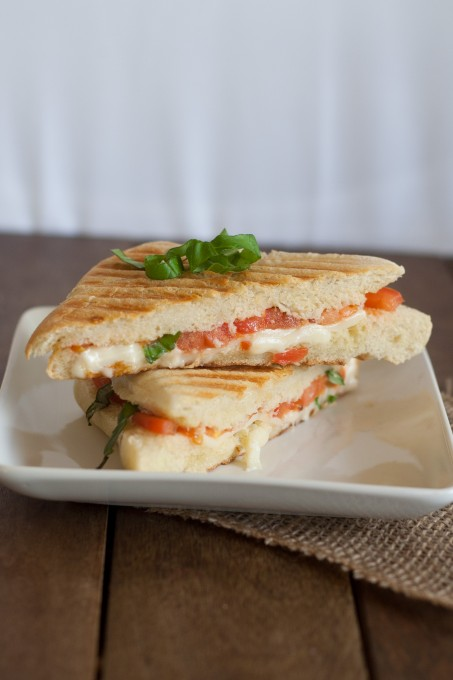 Vertical Photo of Caprese Sandwich