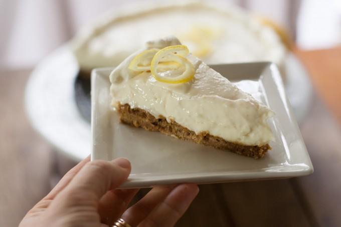 Lemon Cheesecake in Hand