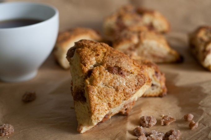 Cinnamon Chip Scone and Coffee