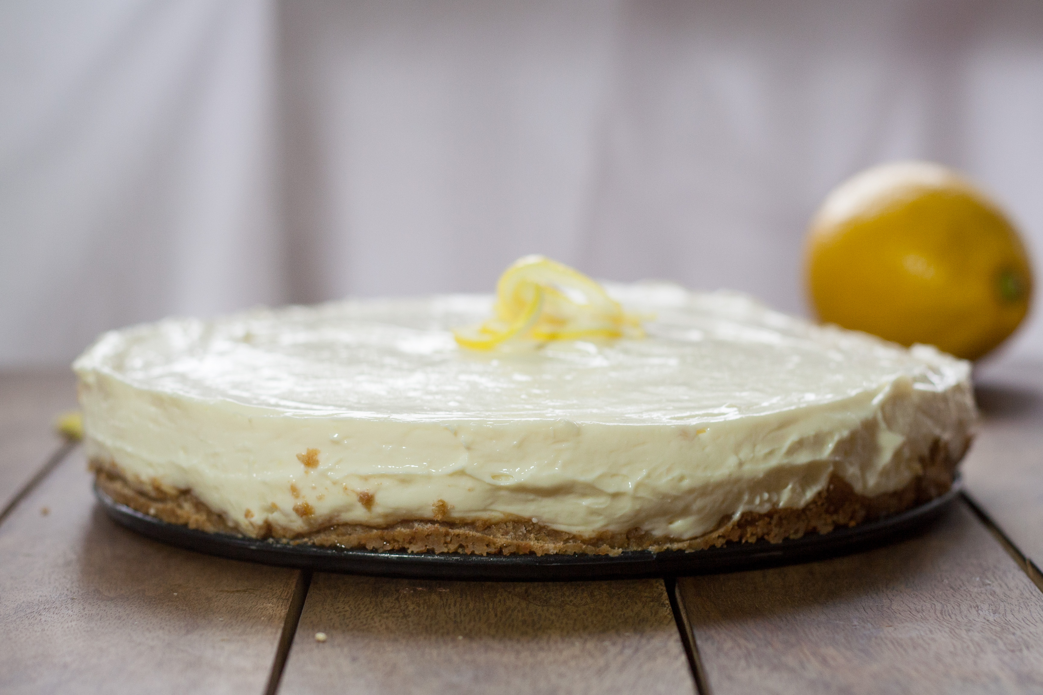 No bake lemon cheesecake with evaporated milk