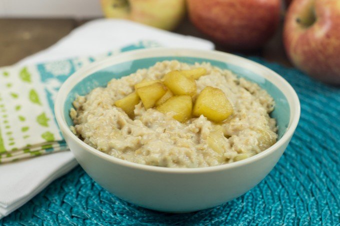 Closeup of Apple Pie Oatmeal