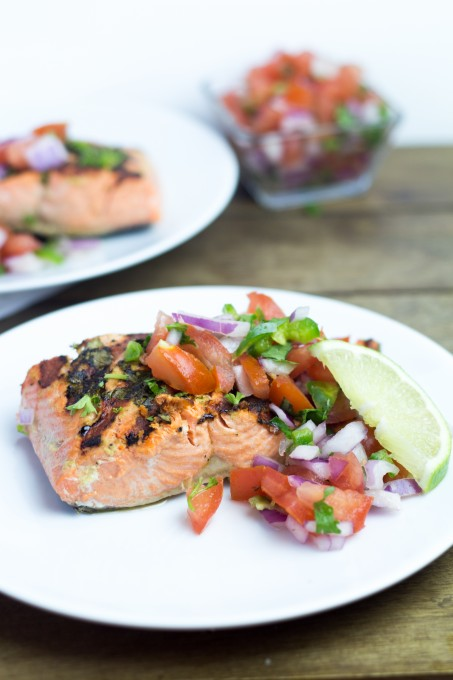Herb Salmon with Salsa