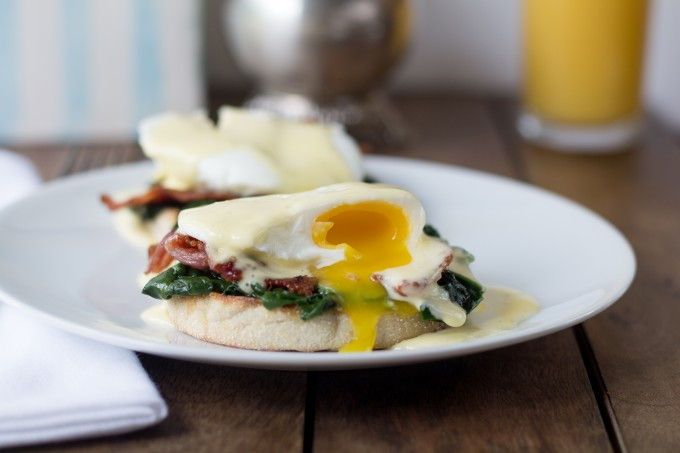 Eggs Florentine Broken Yolk