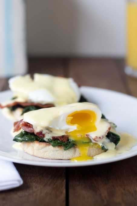 Eggs Florentine with Bite Taken
