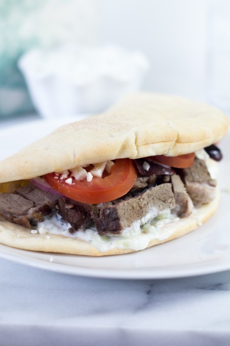 Lamb Pitas with Tzatziki