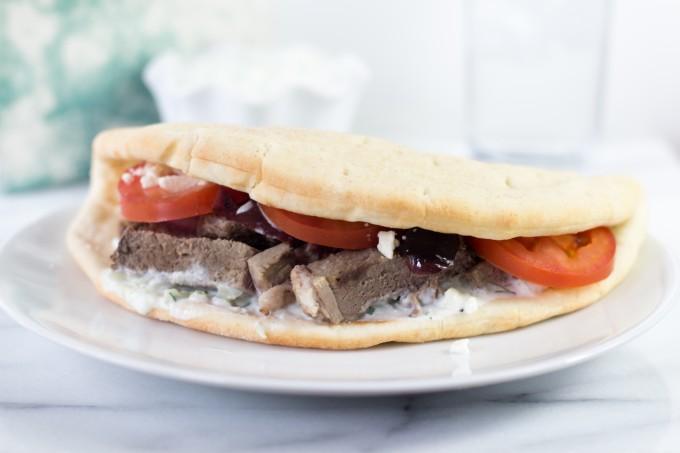 Lamb Pita with Greek Tzatziki Sauce