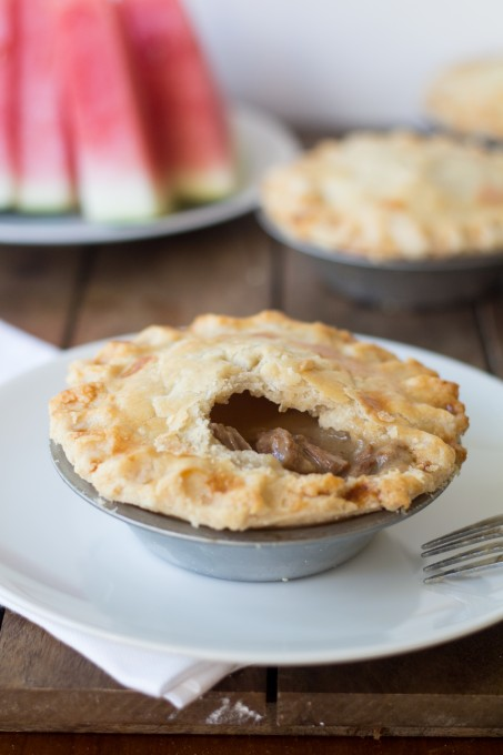 Meat Pie with Bite Taken