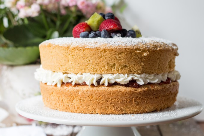 Victorian Sponge Cake from Side