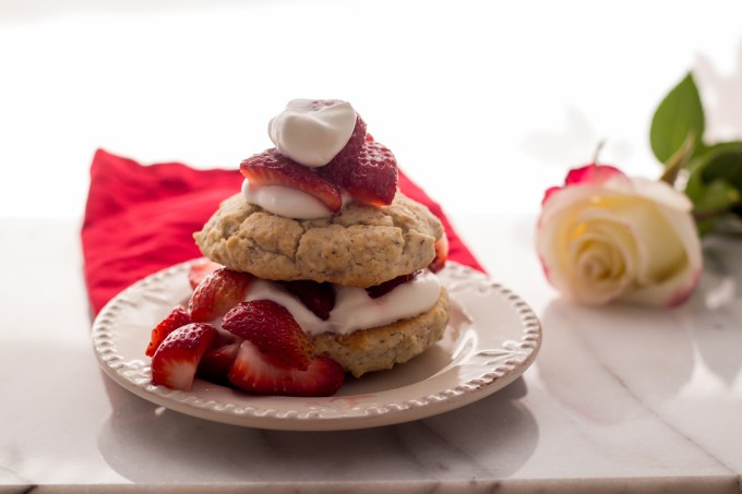Strawberry Shortcake with Rose