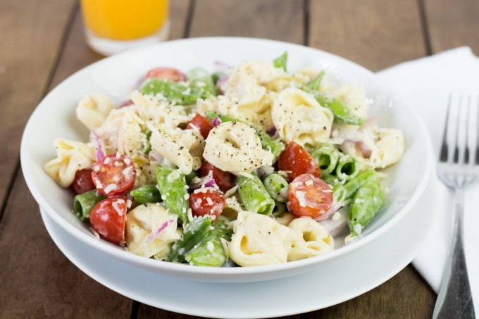 Tortillini Salad with Peas and Tomatoes
