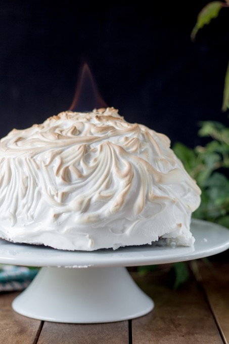 Baked Alaska on Fire