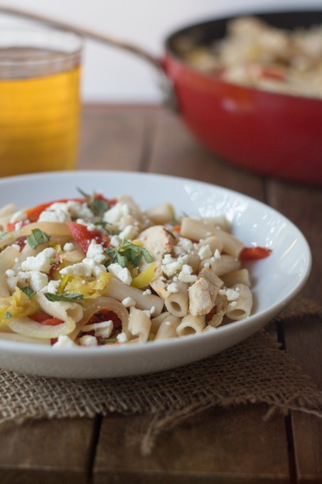 Bowl of Greek Pasta and Chicken