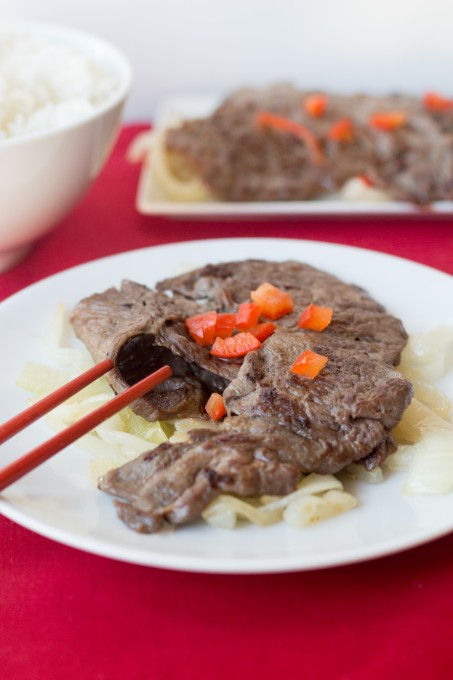Plate of Chinese Steak