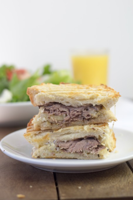 Roast Beef and Cheese Grilled Sandwich