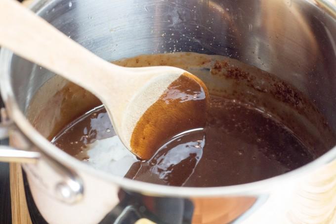 Chocolate Fudge prior to beating
