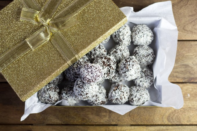 Rum Balls in a Gift Box
