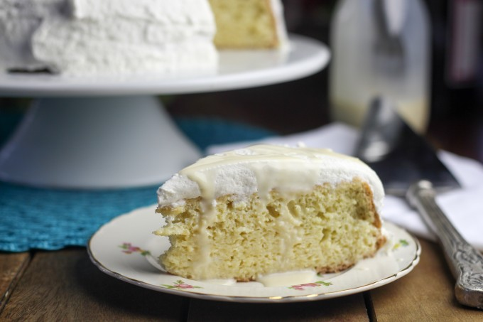Tres  Leches Cake Served with Extra Cream