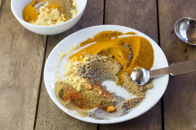 Mixing the Spices for Curry Powder