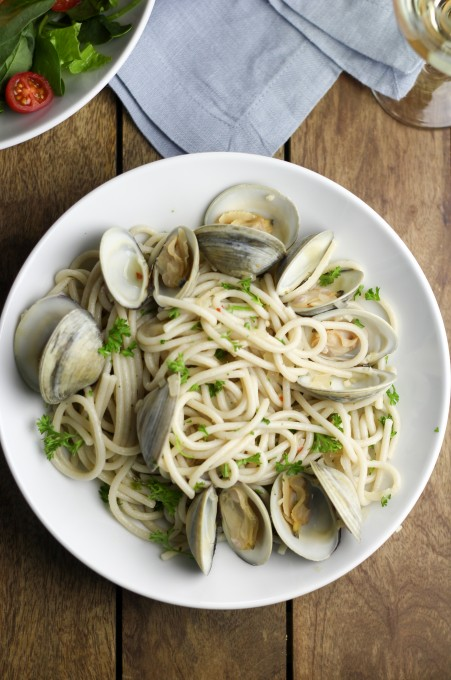 Clams with Spaghetti