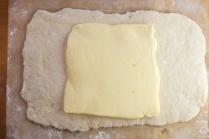 Croissant Dough with Butter