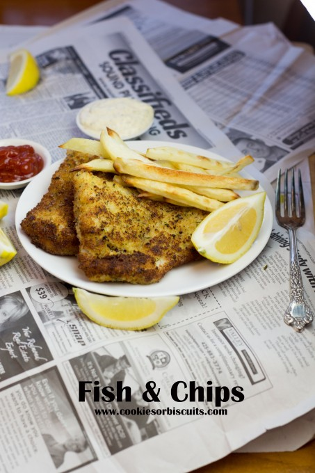 Fish & Chips served with Tartar Sauce