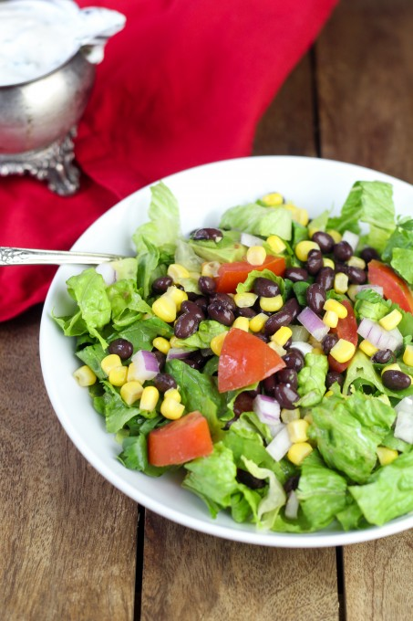 Mexican Salad with Lime Cilantro Dressing