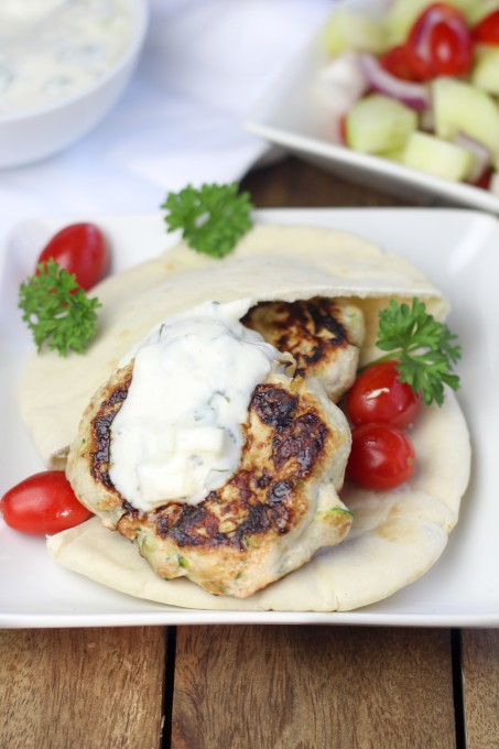 Turkey Burgers with Pita Bread