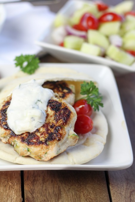 Turkey Burgers with Yogurt Sauce