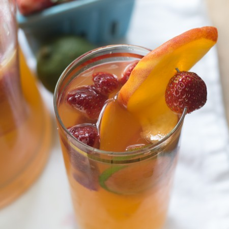 Peach, Strawberry & Lime Sangria