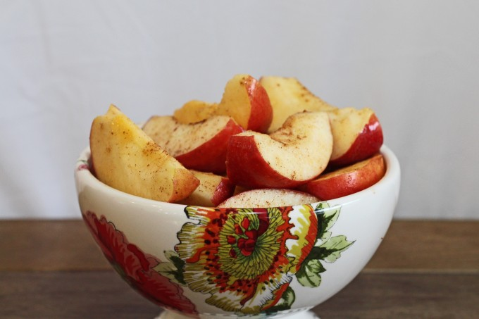 Cinnamon Apples in a Bowl