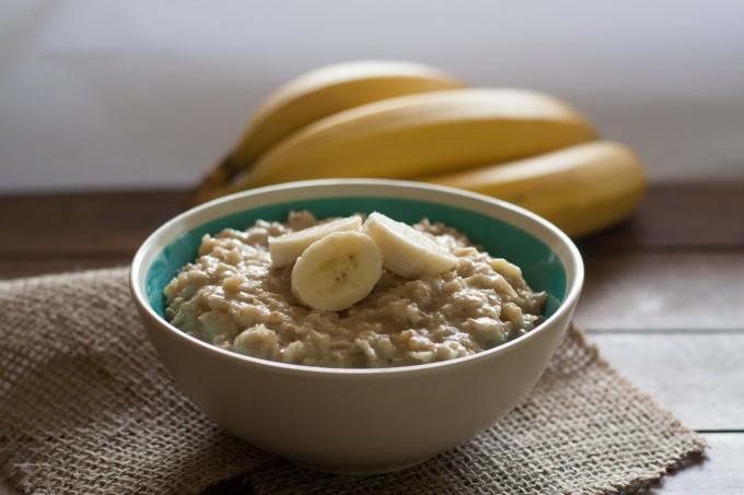 Bowl of Creamy Banana Oatmeal