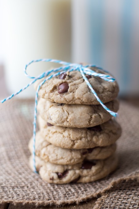 Stack of Chocolate Chip Cookies with String