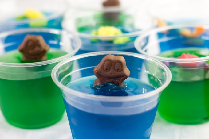Frog in a Pond using Berry Blue Jello