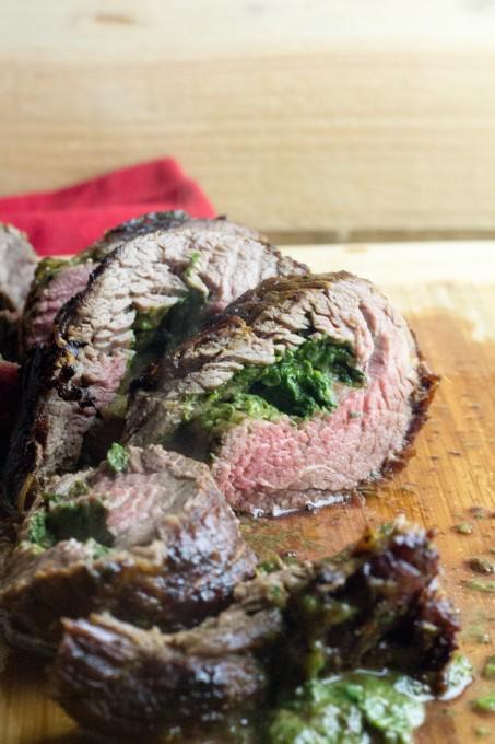 Creamed Spinach Flank Steak